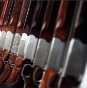 A rack of Shotguns